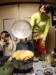 Steamy nabe reveal
