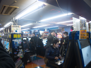 The fighting game floor at Hey!