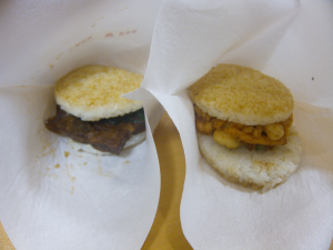 Rice burgers from Mos Burger