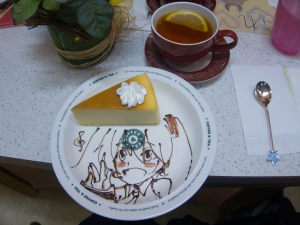 Moe moe miku cheesecake and lemon tea