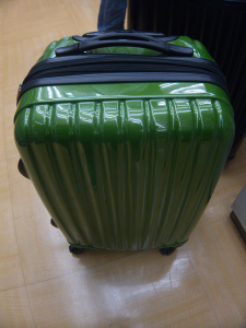 Ridiculously green luggage
