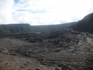On the crater floor