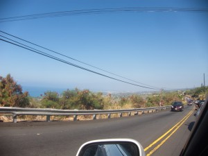 Driving through Kona