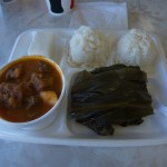 Laulau and stew plate lunch