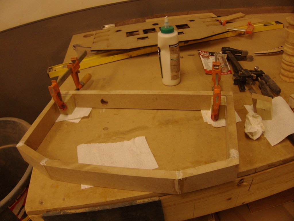 Gluing the joints together