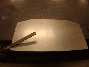 Filing the metal plate